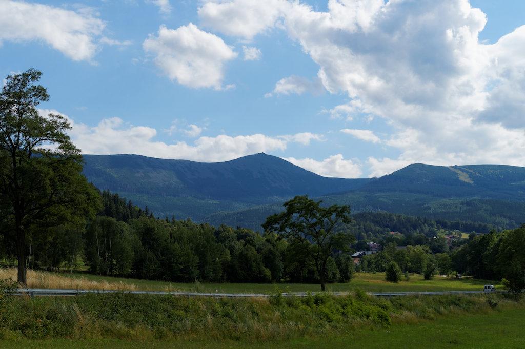 Riesengebirge und der höchste Gipfel: Die Schneekoppe