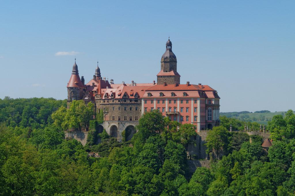 Schloss Fürstenstein, heute Zamek Książ – Wörterbuch Niederschlesischer Orte, Städte und Sehenswürdigkeiten