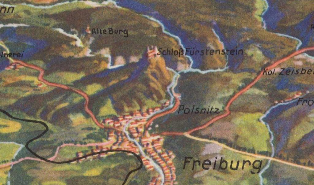 Waldenburger Bergland, Schloß Fürstenstein, Die Alte Burg und Freiburg in Schlesien