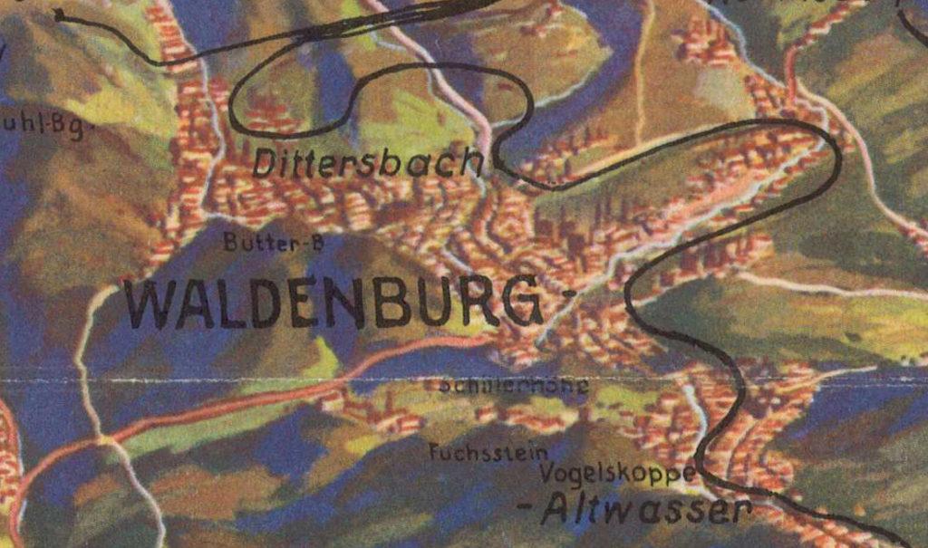 Waldenburg und Altwasser (heute Wałbrzych und Stary Zdrój)