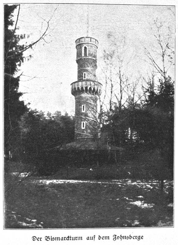 So sah der Bismarckturm in Johnsberg aus, bevor er in Vergessenheit geraten ist – Quelle: dolny-slask.org.pl