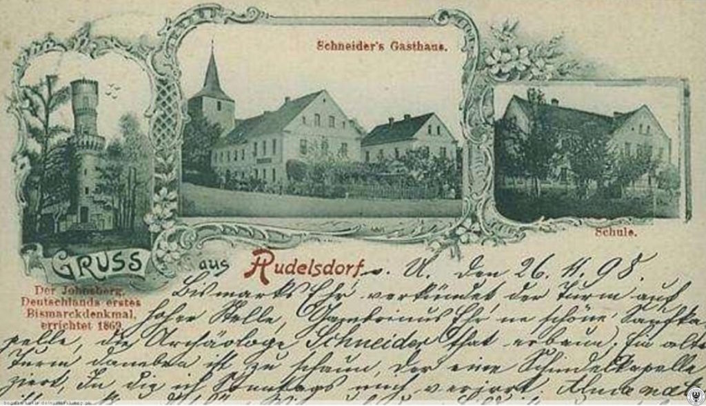 Der älteste Bismarckturm ist auf der linken Seite zu sehen – Quelle: dolny-slask.org.pl