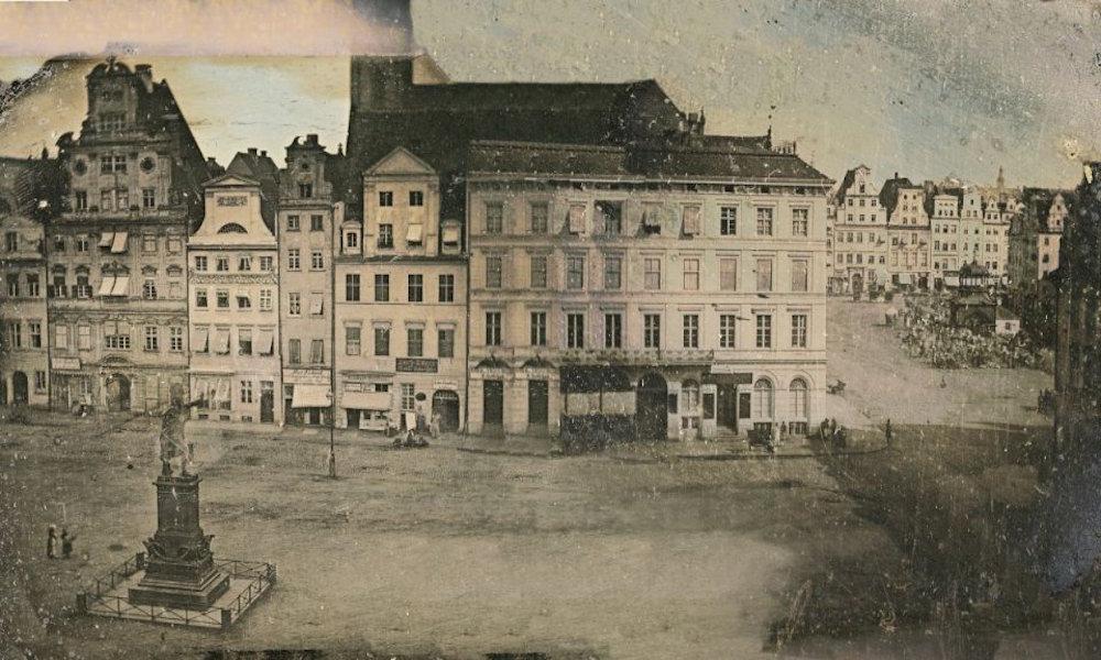 Das älteste Foto von Breslau – Dagerotypie, erstellt zwischen 1839 und 1846