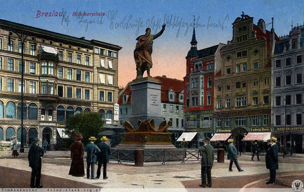 Solny-Platz und das Denkmal des Feldmarschalls von Blücher – Quelle: dolny-slask.org.pl