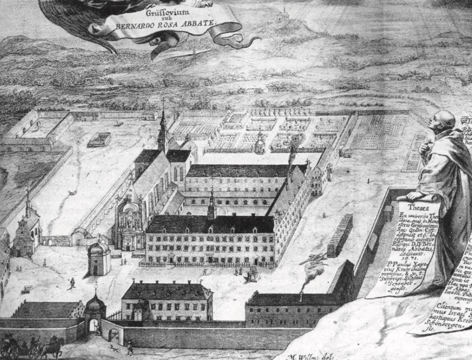 Abtei auf dem Kupferstich von 1678