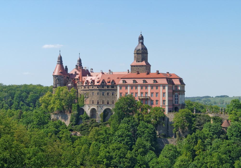 Schloss Fürstenstein (Książ) ist das größte Schloss in Niederschlesien