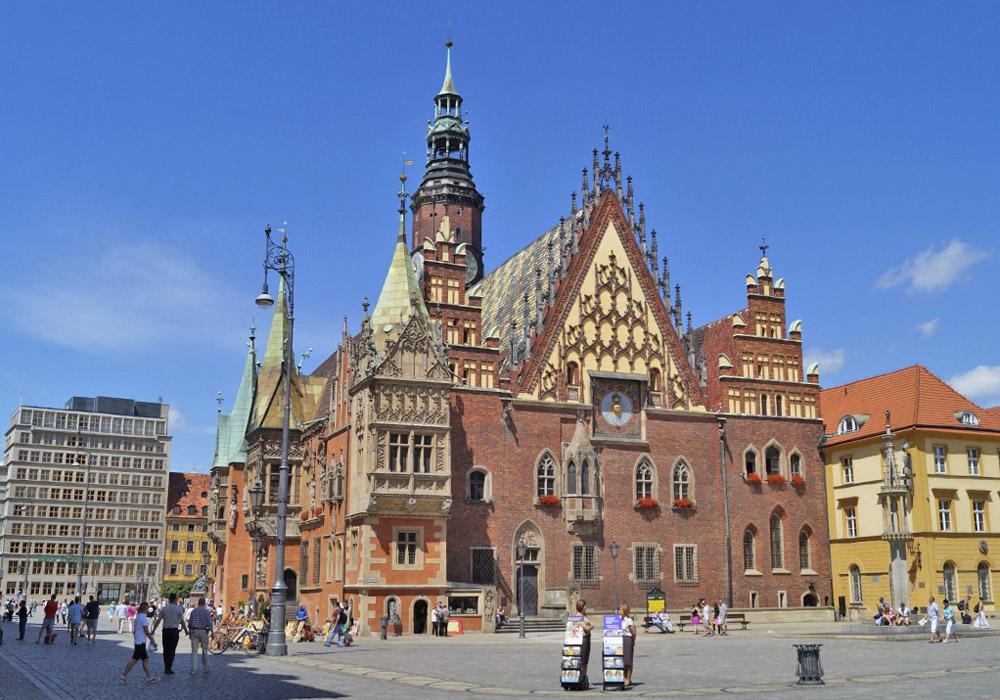 Breslau (heute Wrocław) – Hauptstadt der Woiwodschaft Niederschlesien