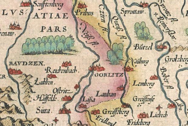 Westgrenze von Schlesien im 16. Jahrhundert