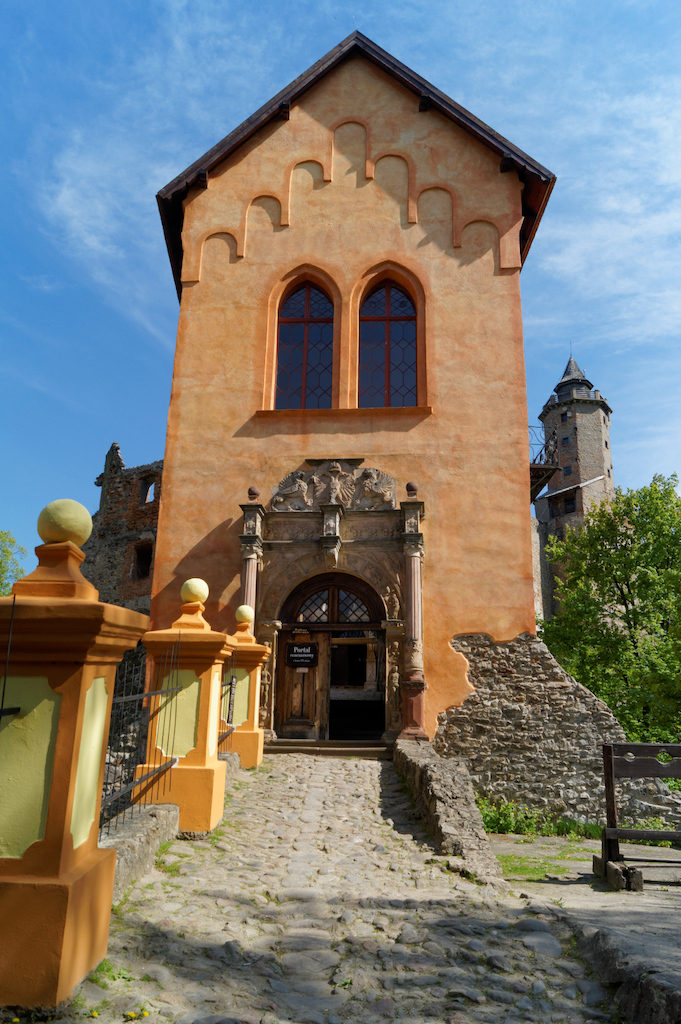 Das Torgebäude mit dem Renaissance-Portal