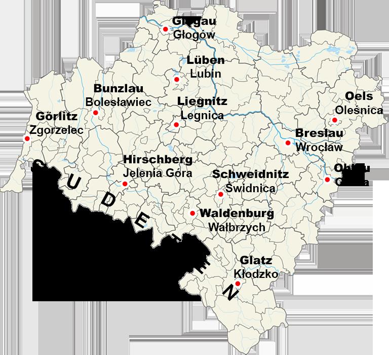 Woiwodschaft Niederschlesien – Quelle: Wikimedia/Aotearoa