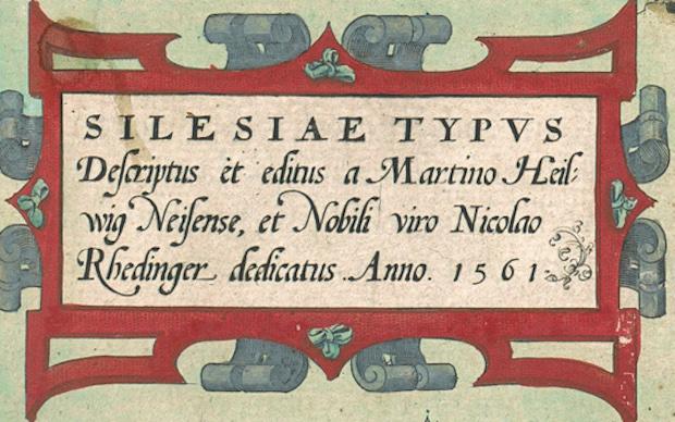chlesien Typus – Informationen und Unterschrift der alten Karte von Schlesien