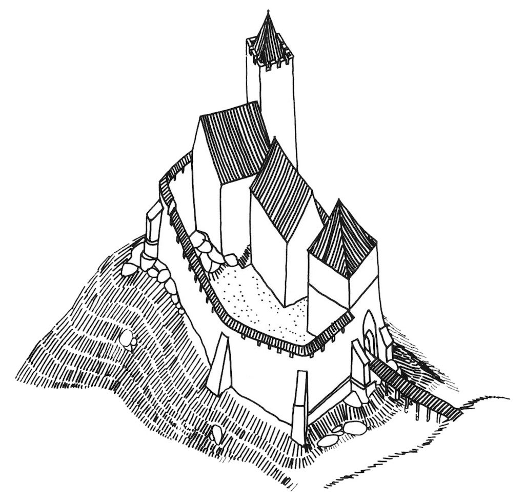 Umbau der Kynsburg aus dem 14. Jahrhundert – Autor: prof. Jerzy Rozpędowski