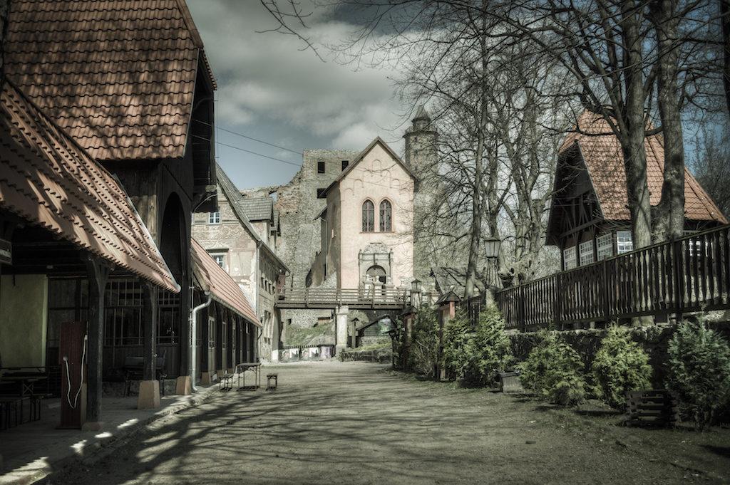 Der untere Hof der Kynsburg