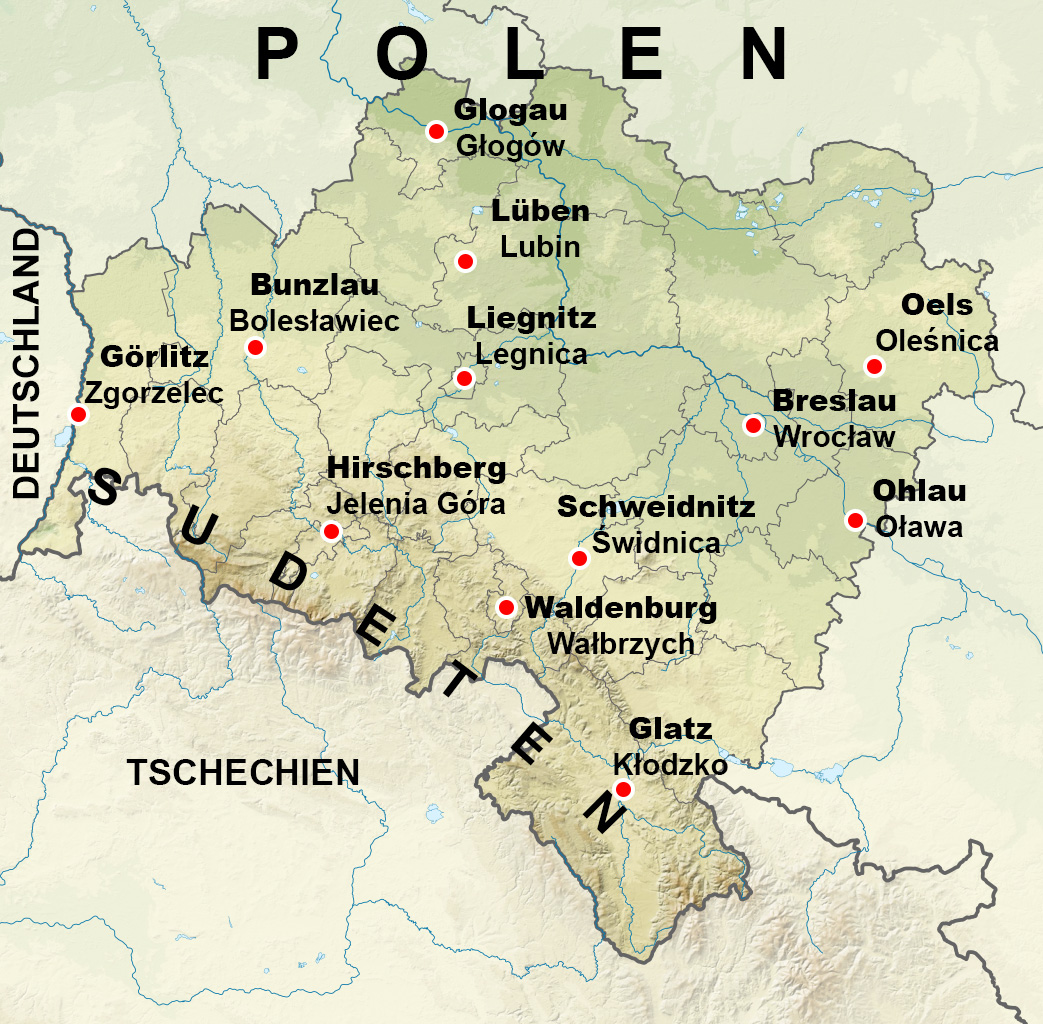 Woiwodschaft Niederschlesien – Quelle: Wikimedia/SANtosito