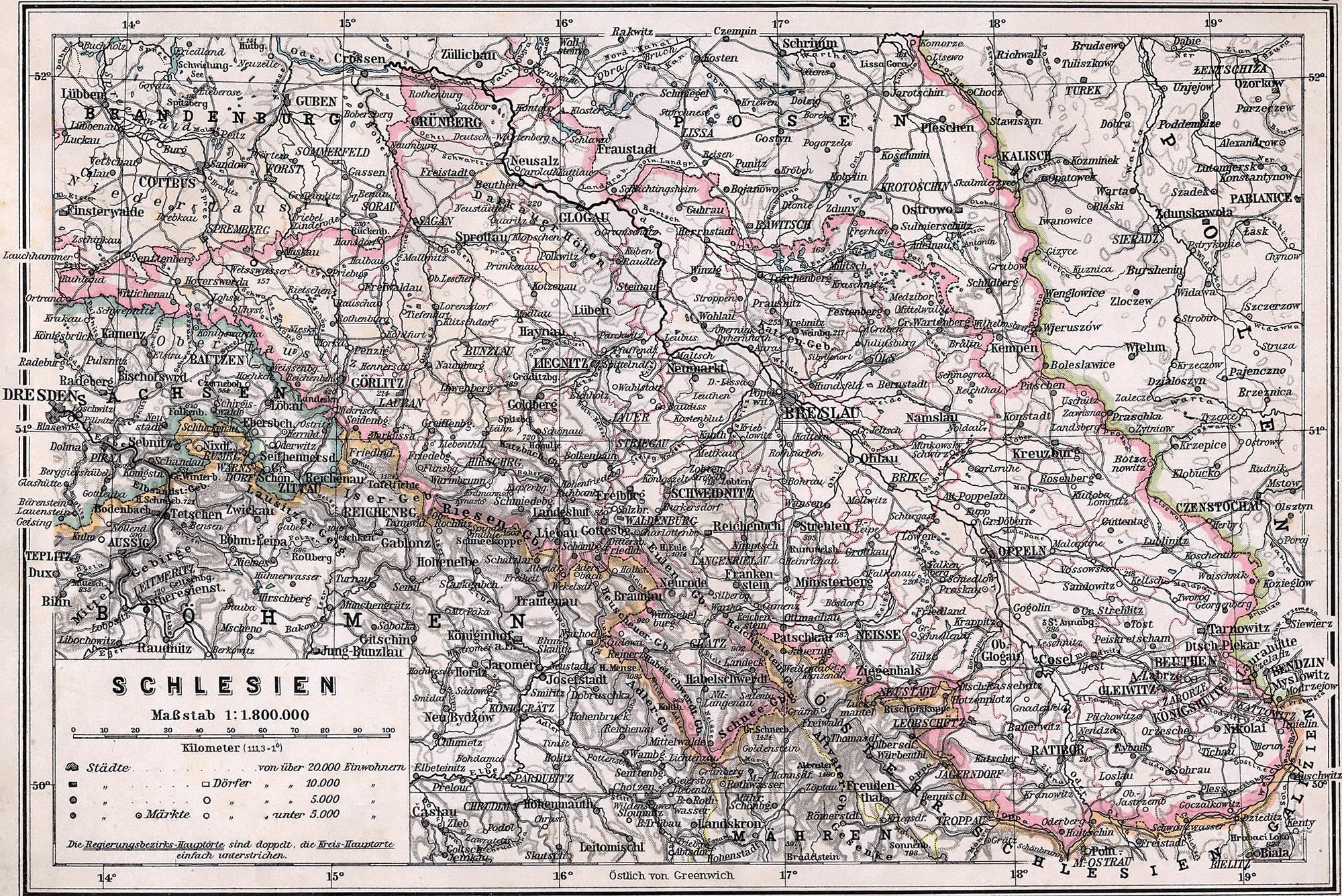 Schlesien Karte Heute.Niederschlesien Karte Von 1945 E Niederschlesien De