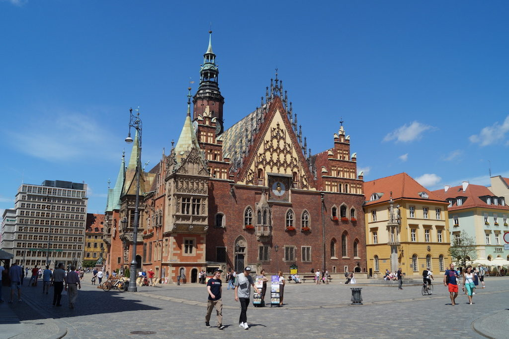 Historisches Altes Rathaus auf dem Breslauer Markt