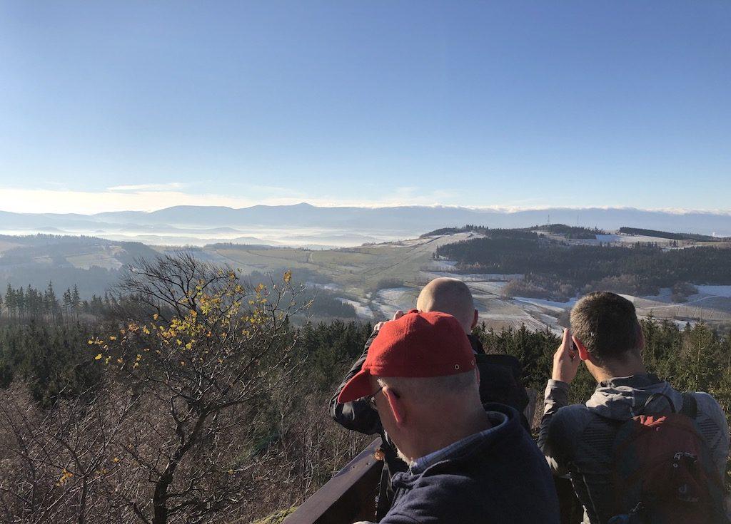 Westsudeten von der Aussichtsplattform auf Hogolie (Ogule) Bober-Katzbach-Gebirge aus gesehen