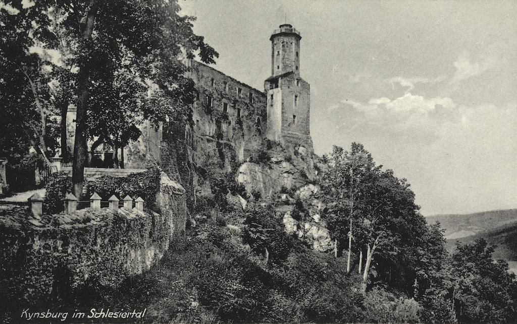 Postkarte Kynsburg im Schlesiertal