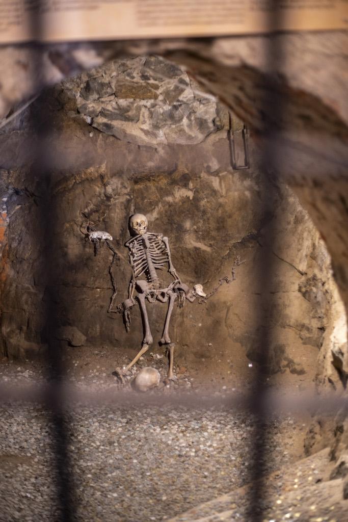 Skelett der Prinzessin Margaret im Hungerkerker – Foto: Adrian Sitko